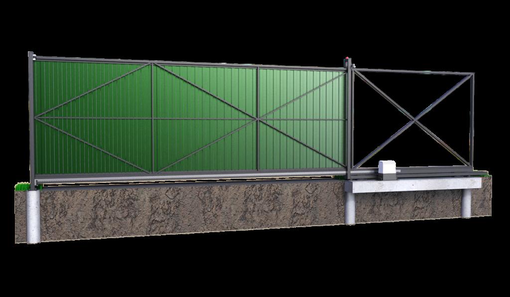 Откатные ворота 6 метров