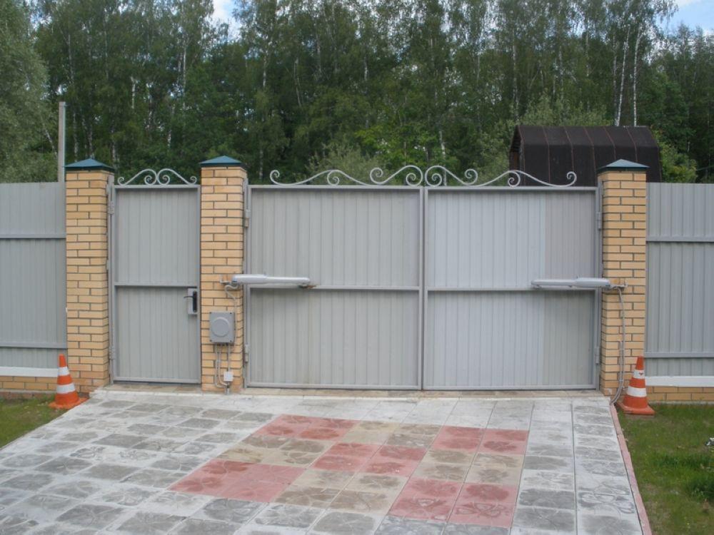 Автоматические распашные ворота 2