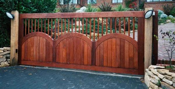 Откатные ворота для дачи