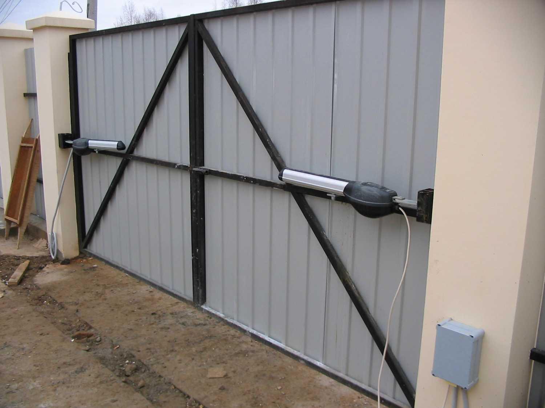 Тёплые металлические ворота своими руками фото 508