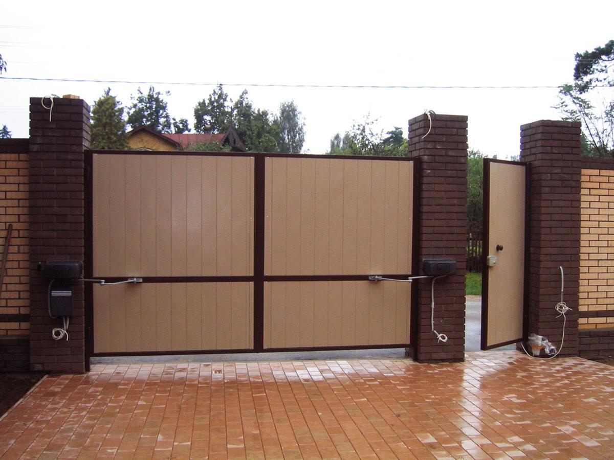 Тёплые металлические ворота своими руками фото 907