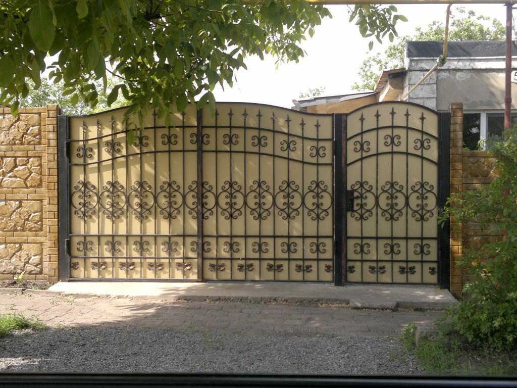 ворота дачные распашные с калиткой цена