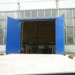 Промышленные распашные ворота 1