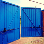 Промышленные распашные ворота 4