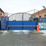 Промышленные распашные ворота 3